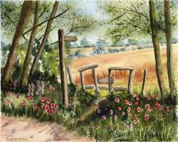 Art: Golden Fields by Artist Janet M Graham