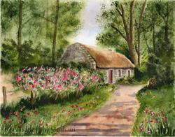 Art: Thatched Cottage by Artist Janet M Graham