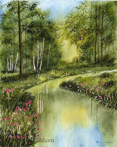 Art: Spring River by Artist Janet M Graham