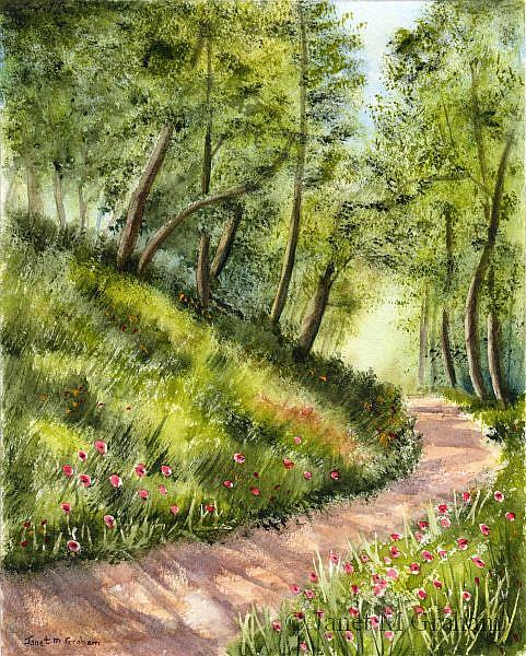 Art: Summers Day by Artist Janet M Graham