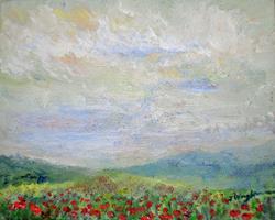 Art: Poppy field by Artist John Wright