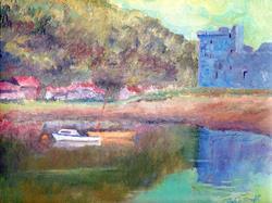 Art: Lochranza, Isle of Arran by Artist John Wright