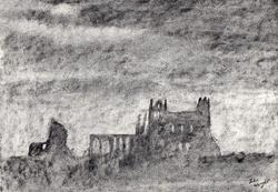 Art: Whitby Abbey (2) by Artist John Wright