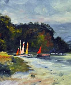 Detail Image for art Boats on Ulswater