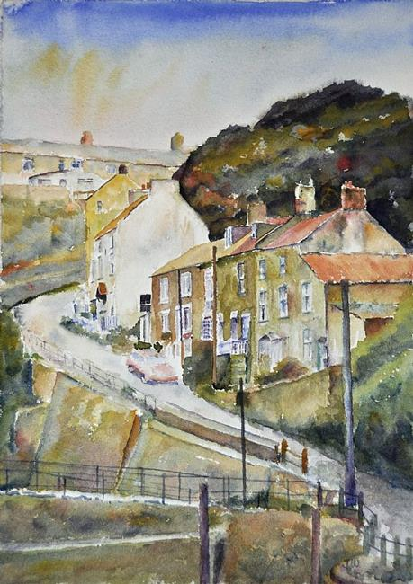 Art: Cow Bar Bank, Staithes by Artist John Wright