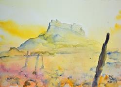 Art: Lindisfarne Castle by Artist John Wright