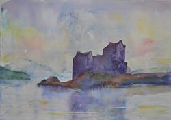 Art: Eilean Donan Castle by Artist John Wright