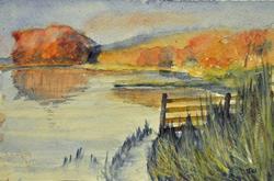 Art: Esthwaite water by Artist John Wright