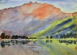 Art: Buttermere, Lake District by Artist John Wright