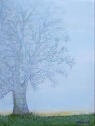 Art: Maple in Morning Mist by Artist Fran Caldwell