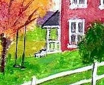 Detail Image for art Fall Afternoon - Original Acrylic ACEO