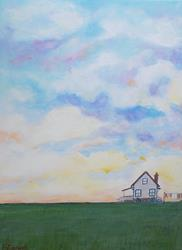 Art: Sundown (Sold) by Artist Fran Caldwell
