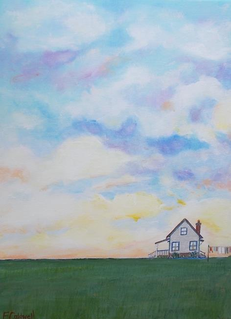Art: Sundown (Sold) by Artist Fran Caldwell
