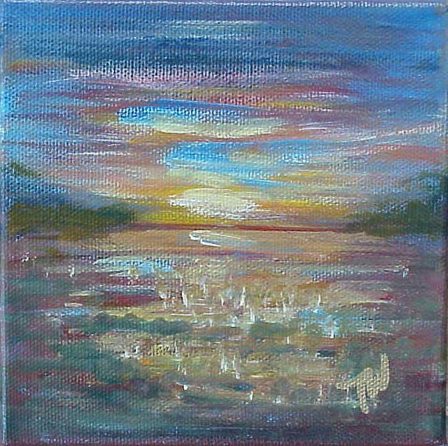 Art: Sunrise on The St.Johns SOLD by Artist Terri L West