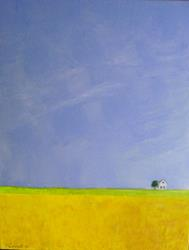 Art: Farm Idyll (SOLD) by Artist Fran Caldwell
