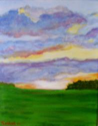 Art: Dawn (Sold) by Artist Fran Caldwell