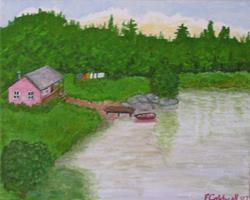 Art: The Cabin (Sold) by Artist Fran Caldwell
