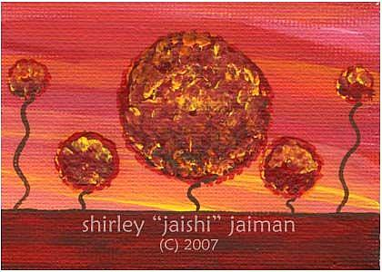 Art: Trees ACEO 03 by Artist Shirley Inocenté