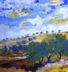 Art: la collina degli ulivi by Artist Alessandro Andreuccetti