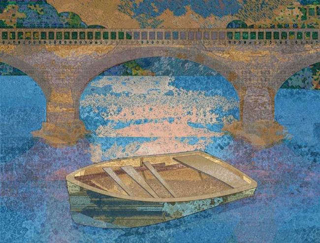 Art: Rowboat by Artist Mary Ogle