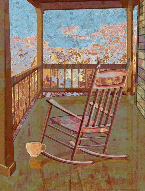 Art: Back Porch by Artist Mary Ogle