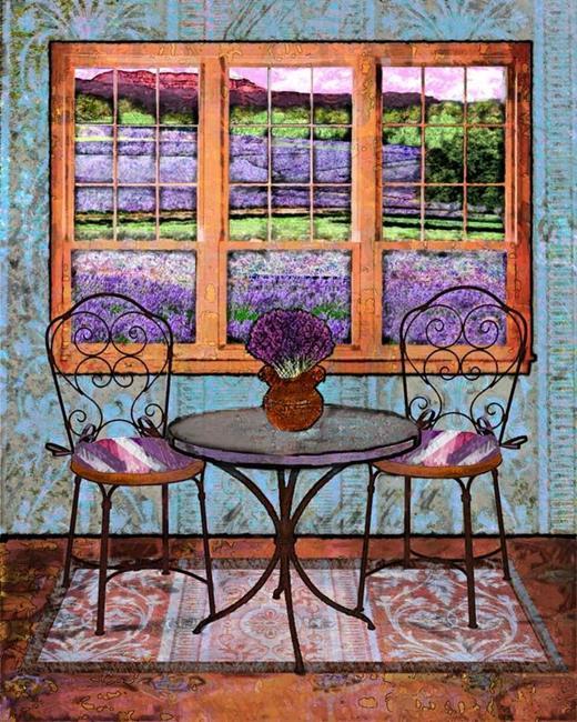 Art: Lavender Bistro by Artist Mary Ogle
