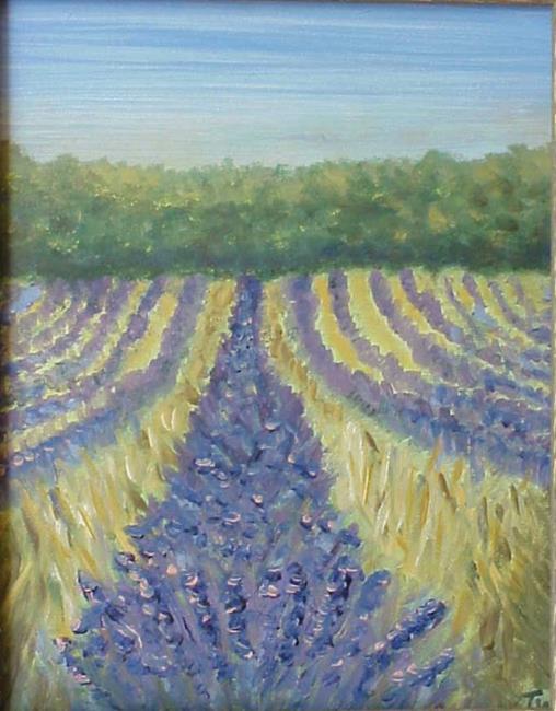 Art: Lavender Field SOLD by Artist Terri L West