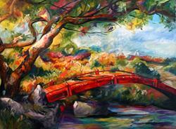 Art: bridges by Artist Laurie Justus Pace