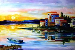 Art: New Years Sunrise by Artist Laurie Justus Pace