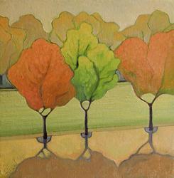 Art: Autumn Haze by Artist Elizabeth Fiedel
