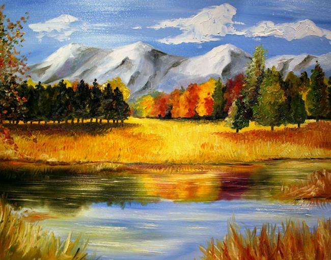 Art: Fall in Wyoming by Artist Laurie Justus Pace