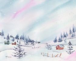 Art: Wintertime is Here.jpg by Artist Melanie Pruitt
