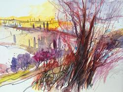 Art: Paesaggio toscano no.15 by Artist Alessandro Andreuccetti
