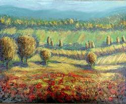 Art: Afternoon Poppies SOLD by Artist Terri L West