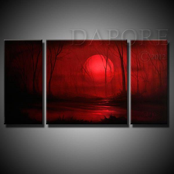 Art: Red Landscape 436 by Artist Theo Dapore