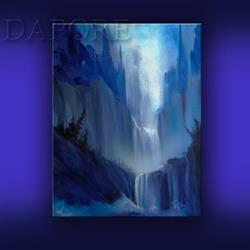 Art: landscape painting 438 original on canvas by Artist Theo Dapore