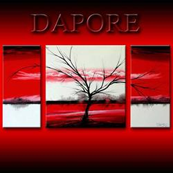 Art: Landscape 337 Red Commission by Artist Theo Dapore