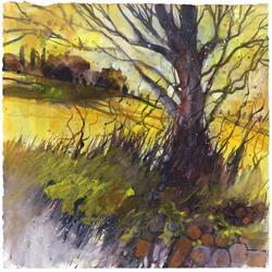 Art: paesaggio toscano 10   cm28x28 by Artist Alessandro Andreuccetti