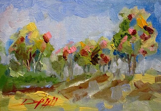 Art: Spring Trees by Artist Delilah Smith