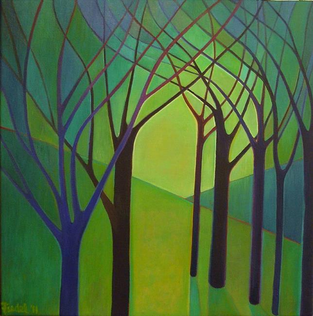 Art: Woodland Nave by Artist Elizabeth Fiedel