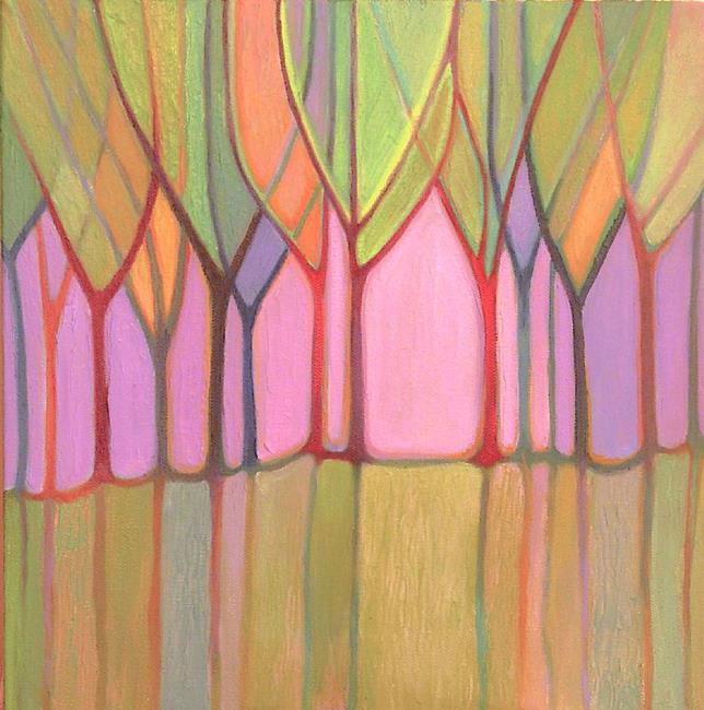 Art: Spring Saplings by Artist Elizabeth Fiedel