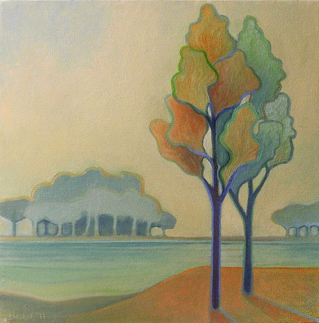 Art: At the Reservoir by Artist Elizabeth Fiedel