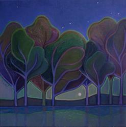 Art: Moon Rise by Artist Elizabeth Fiedel