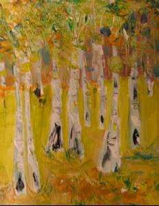 Detail Image for art Meadow of Birches