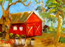 Art: An Old Red Shed by Artist Delilah Smith