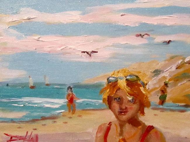 Art: Beach-SOLD by Artist Delilah Smith