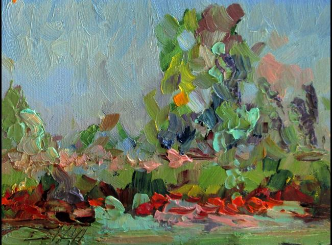 Art: Abstract Landscape No.4 by Artist Delilah Smith