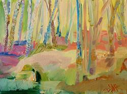 Art: The Woods-SOLD by Artist Delilah Smith