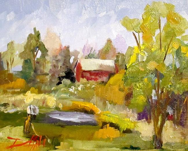 Art: Rural Landscape by Artist Delilah Smith