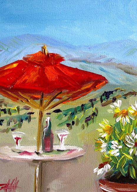 Art: Wine in Sonoma by Artist Delilah Smith